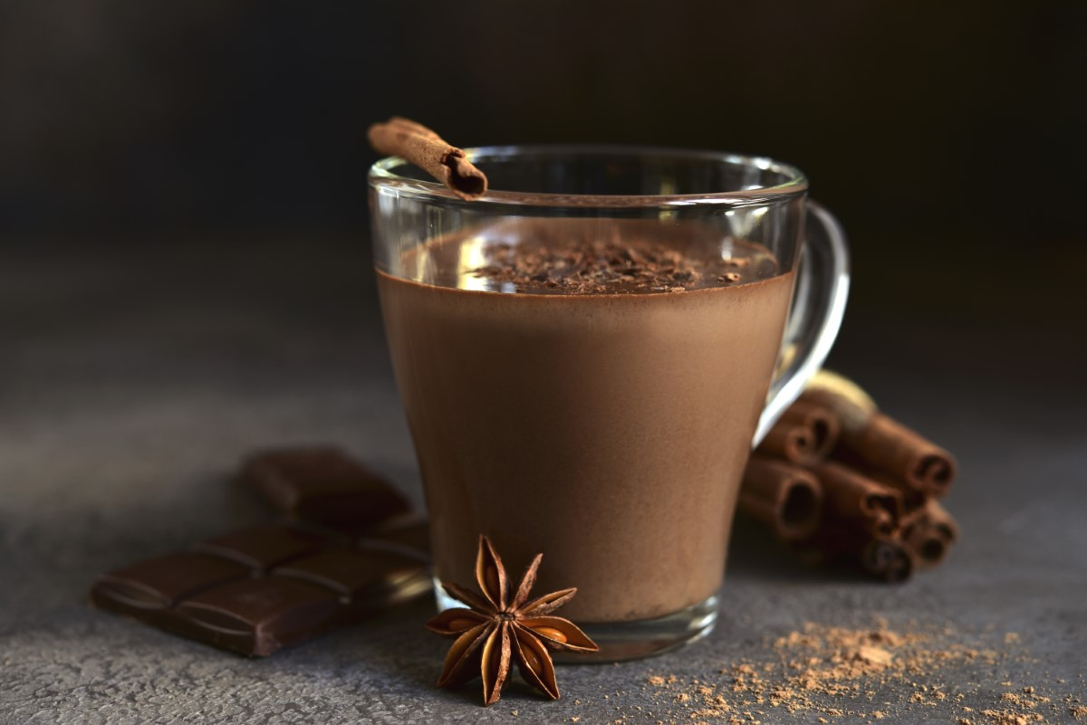 Spicy Hot Chocolate In A Glass Cup