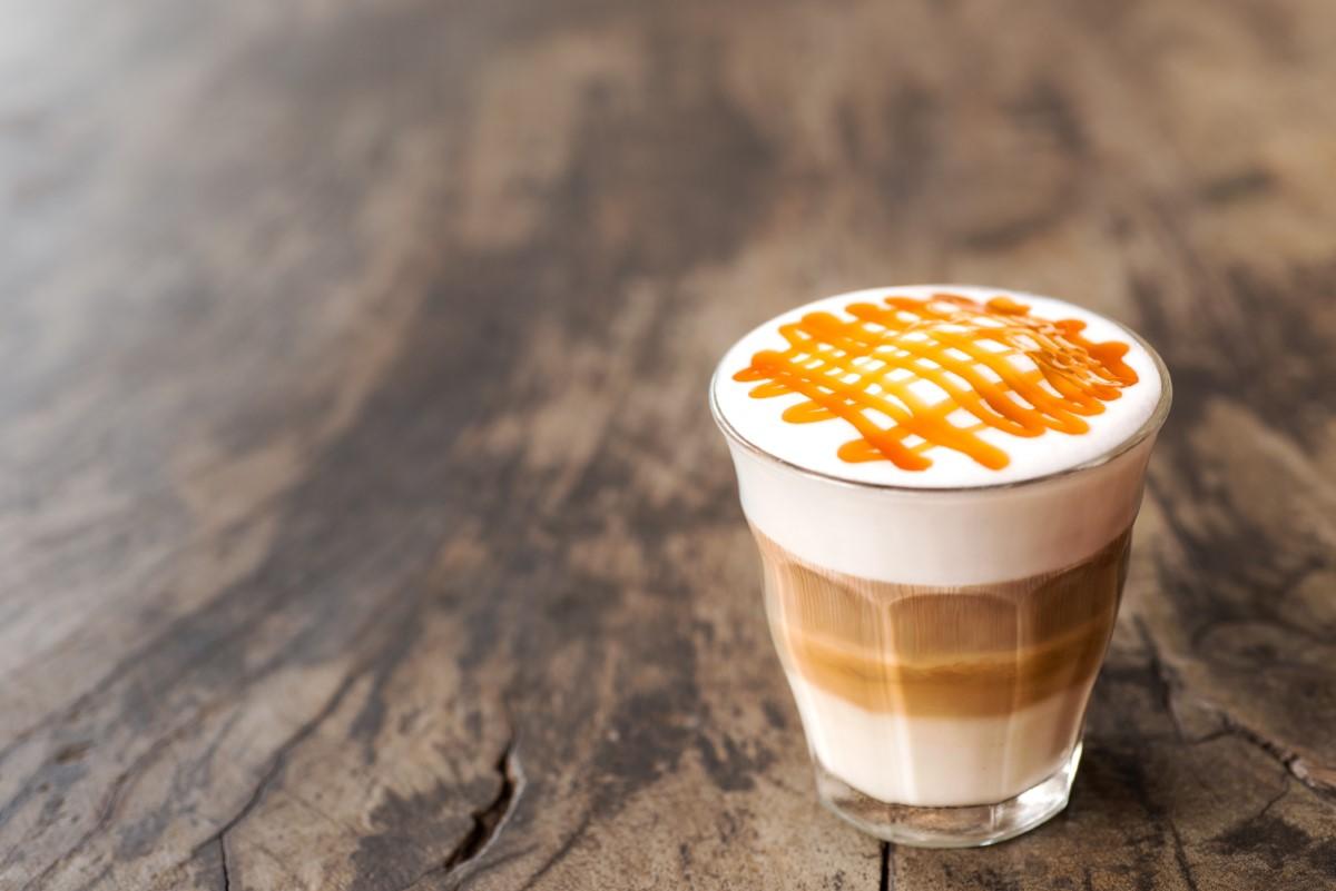Hot Caramel Macchiato Coffee